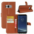 Card Holder Leather Flip Wallet Back Case Cover Stand For Samsung Galaxy Phones
