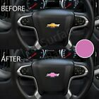 Precut Steering Wheel Bowtie Overlay Decal Chevy Silverado 2014-2020 - Matte