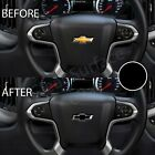 Precut Steering Wheel Bowtie Overlay Decal Fits Chevy Silverado 2014-2020 Matte
