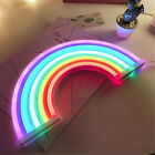 Colorful Rainbow Neon Sign LED Night Light Wall Lamp For Kids Room