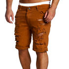 Mens Destroyed Ripped Denim Pants Slim Skinny Straight Jeans Trousers Shorts YJ1