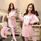 Maternity Sleepwear Cartoon Feeding Homewear Pajama Long Sleeve Tops  Pants TOP
