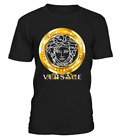 New Fashion Versace2019 Famous Gold Logo Luxury T-Shirt Many Color Full Size USA