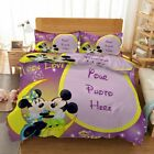 Yellow Moon Mouse 3D Printing Duvet Quilt Doona Covers Pillow Case Bedding Sets image