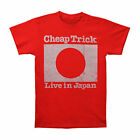 Cheap Trick Men's  Live In Japan T-shirt Red