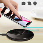Qi Wireless Fast Charger Slim Charger Pad For iPhone XS 8 Samsung Galaxy S10 S9+