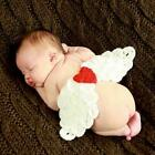 Newborn Infant Baby Photo Costume Knit Photography Prop Outfit Love Angel Wings