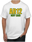 Aaron Rodgers T-Shirt - AR12 NUFF SAID Green Bay Packers NFL Uniform Jersey #12 $14.99 USD on eBay