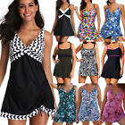 Plus Size Womens Swimsuit Skirted Swimwear Swim Dress Tankini Bathing Beachwear