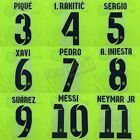 2014-15 Barcelona Player Issue Away Name Set Sipesa for Shirt Jersey