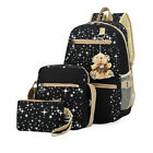 Women Teenage Girls Backpack Canvas Travel Bookbags School Bags Camping Rucksack