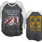 Junk Food The Who Quadrophenia Destroyed Finish Color Block 3/4 Raglan t-shirt
