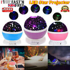 Rotating LED Light Projector Star Moon Sky Baby Kids Night Mood Lamp Xmas Gift P
