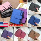 Woman Ladies Mini Purse PU Leather Small Clutch Wallet Zipper Card ID Holder Bag image