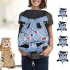 Fashionable Denim Style Cat Pet Carrier Travel Backpack Portable Outdoor Carrier