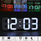 Digital 3D LED Table Wall Clock Alarm Snooze Watch 12/24H Display USB Dimmable