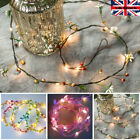 Led Leaf Garland Fairy String Lights Christmas Wedding Party Home Decoration Uk