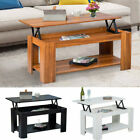 Modern Lift Up Top Coffee Table End Table W/ Storage & Shelf Living Room Bedroom