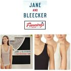 NEW Jane and Bleecker Women's 3-Pack Cotton Stretch Reversible Tank VARIETY I51