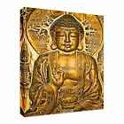 Golden Buddha Tablet Vintage Canvas Wall Art Picture Print