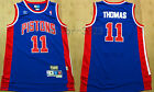 New Men's Detroit Pistons 11#  Isiah Thomas basketball jersey retro Mesh Blue on eBay