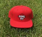 FORE, Eh! Red Snapback Golf Hat
