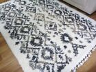 25mm Thick n Lush Modern Boho White Black Grey Beige Lattice Design Floor Area R