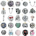 Authentic 925 Sterling SILVER European Charms Xmas Beads Pendant For Bracelets image