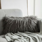 Soft Plush Cushion Covers Faux Fur Square Throw Pillow Cases Waist Bed Sofa Pads image