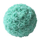 "6"" 8"" 10"" 12"" Dia Flower Kissing Ball DIY Silk Rose Pomander Wedding Party Decor"