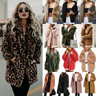 Women Winter Warm Fleece Fur Teddy Bear Coat Fashion Zip Outwear Jacket Jumper