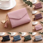 Women Casual Small Clutch Leather Short Wallet Photo Credit ID Card Holder Purse image