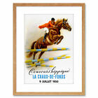 Sport Ad Equestrian Horse Jumping Event Fence Framed Art Print 9x7 Inch