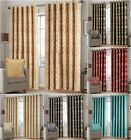 Heavy Jacquard Eyelet Ring Top Lined Curtains For Bedroom Living Room Kitchen