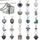 Silver Steel Chain Cremation Jewelry Ash Urn Necklace Memorial Keepsake Pendant