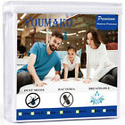 Cooling Cotton Terry Matress Protector Waterproof Quiet Fitted Deep Pocket Skirt image