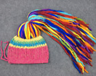 Chinese Style Handmade Knit Womens Colorful Reggae Pigtail Cap Tourist Hat Sbox4