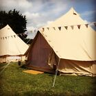 Used, 4m or 5m Ex Hire Cotton Canvas Bell Tent With Zipped In Groundsheet for sale  Eastbourne
