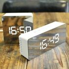 Mirror LED Alarm Clock Night Lights Thermometer Digital Wall Clock LED Lamp US R