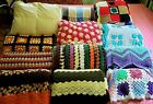 New & Vintage Afghan Grannie Square Fringe Quilt Blanket Twin Queen King CHOICES image