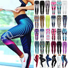 Women's High Waist Yoga Pants Print Sports Fitness Gym Stretch Leggings Trousers
