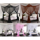 4 Corners Post Mosquito Net Curtain Bed Canopy for Twin Full Queen King Bed image