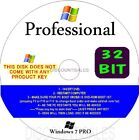 Windows 7 Professional (Pro) 32 64 - FULL INSTALL UPGRADE Repair DISK  + Drivers