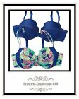 Avon Laura 2 Piece Underwire Bra Set Tropical Blues