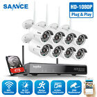 Kyпить SANNCE Wireless 1080P Security Camera System WIFI 8CH NVR Outdoor IP Network 4TB на еВаy.соm
