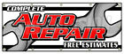COMPLETE AUTO REPAIR FREE ESTIMATES BANNER SIGN cars a/c brakes muffler
