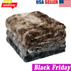 NEW Luxury Soft Warm Breathable Faux Fur Plush Fleece Sofa Blanket Throw Bedding image