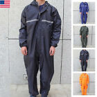 Men Motorcycle Rain Suit Raincoat Overalls Waterproof Work Jumpsuit Outdoor Lot $33.99 USD on eBay