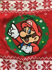 NEW Boys Christmas Super Mario Bro. Fairisle Ugly Christmas Sweater Size: Large