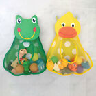 Baby Bath Play Water Duck Frog Toys Storage Bag Kids Bathroom Organizer Basket